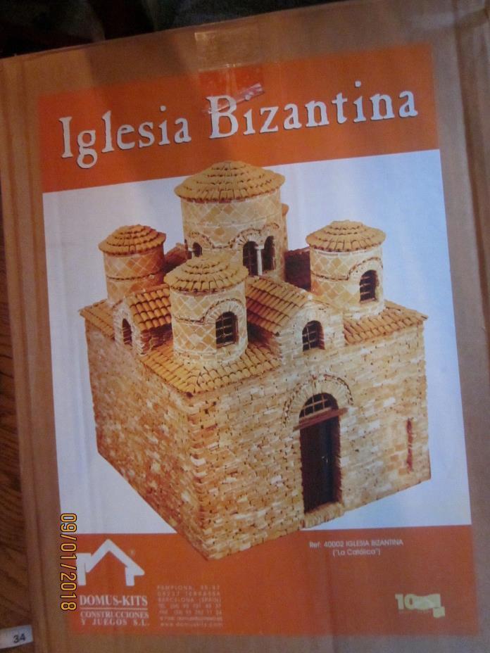 New in box impressive Domus model kit Iglesia Bizantina made Spain