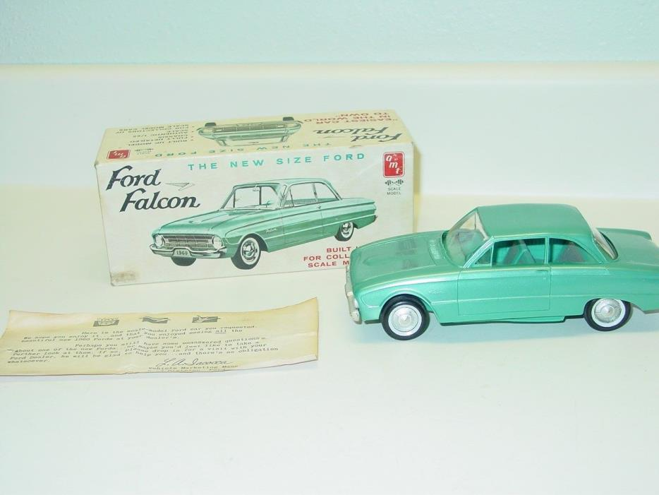 Vintage AMT 1960 Ford Falcon Dealer Promo Model Car with Box, 1:25 Green