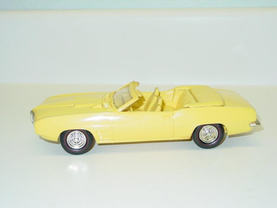 Vintage Plastic 1969 Pontiac Firebird Convertible Dealer Promo Car, Toy Vehicle