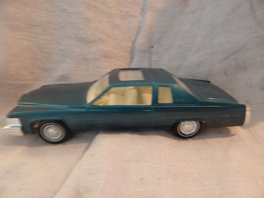 Vintage Jo-Han 1979 Cadillac Coupe de Ville Dealer Promo Car Blue Green