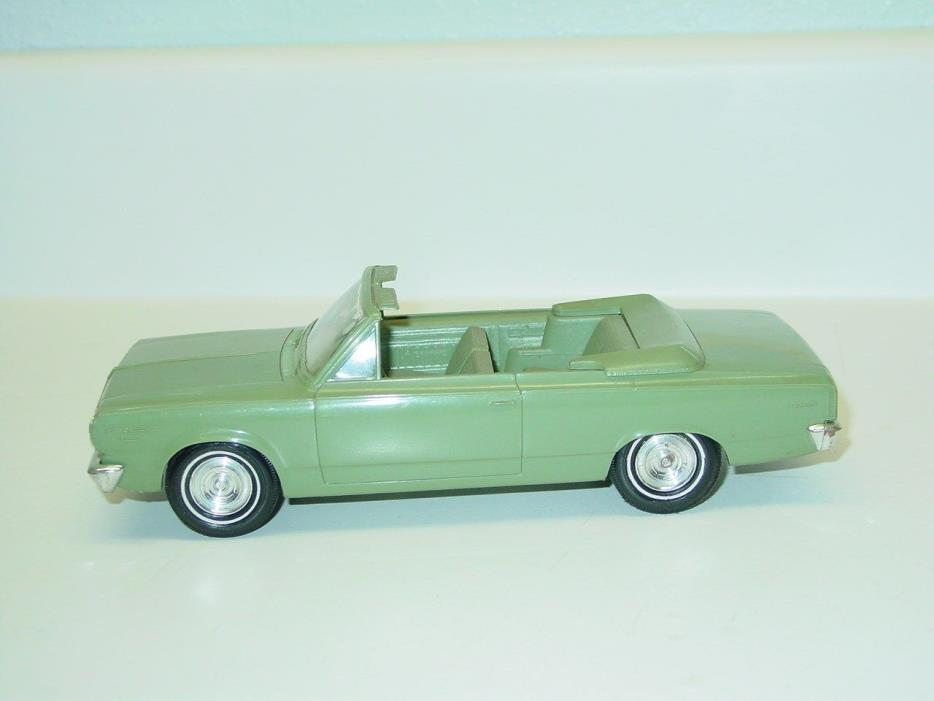 Vintage Plastic 1966 Rambler Convertible Friction Dealer Promo Car, Toy Vehicle