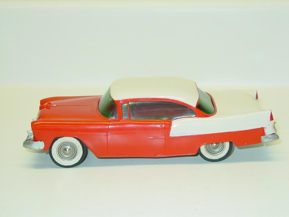 Vintage Plastic 1955 Chevrolet BelAir Dealer Promo Car, Friction Toy Vehicle