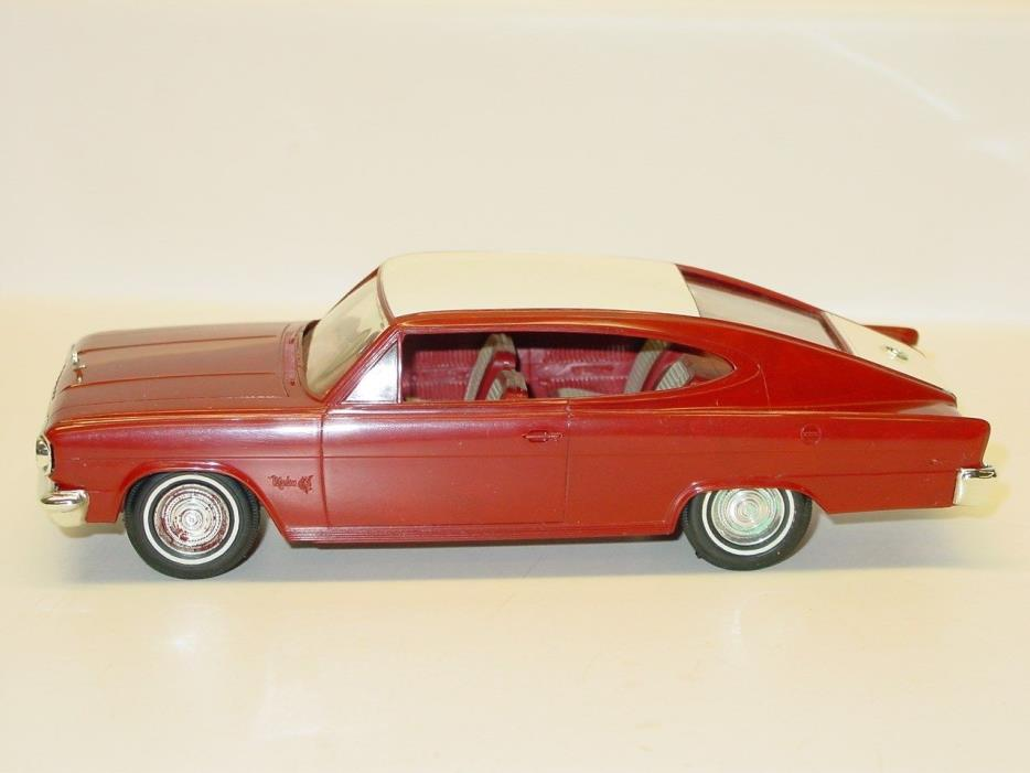 Vintage Plastic 1965 Marlon Dealer Promo Car, Friction Toy Vehicle, Maroon