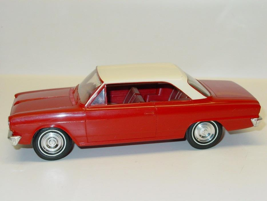 Vintage Plastic 1964 Rambler 2-Door Hard Top Friction Dealer Promo Car Red Works