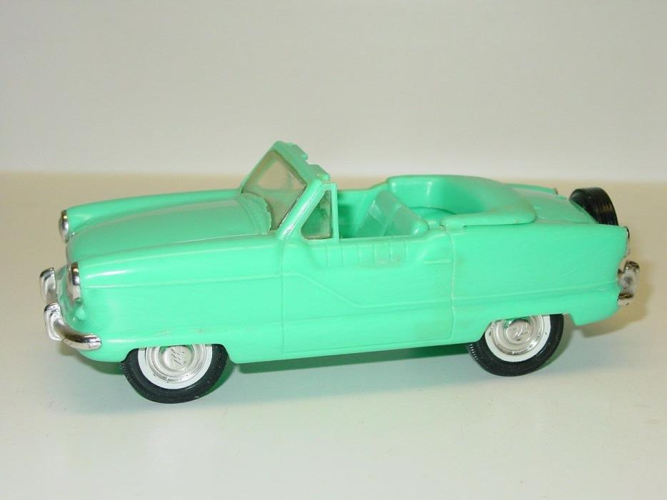 Vintage Hubley Plastic 1959 Metro Convertible Front Friction Dealer Promo Car