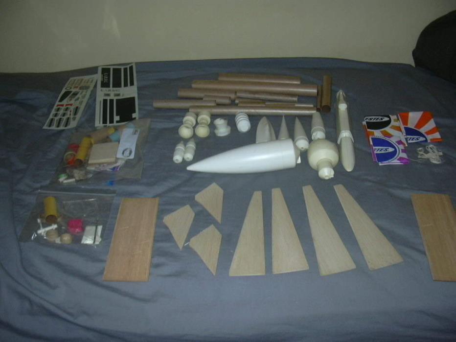 ESTES Model Rocket lot mixed components