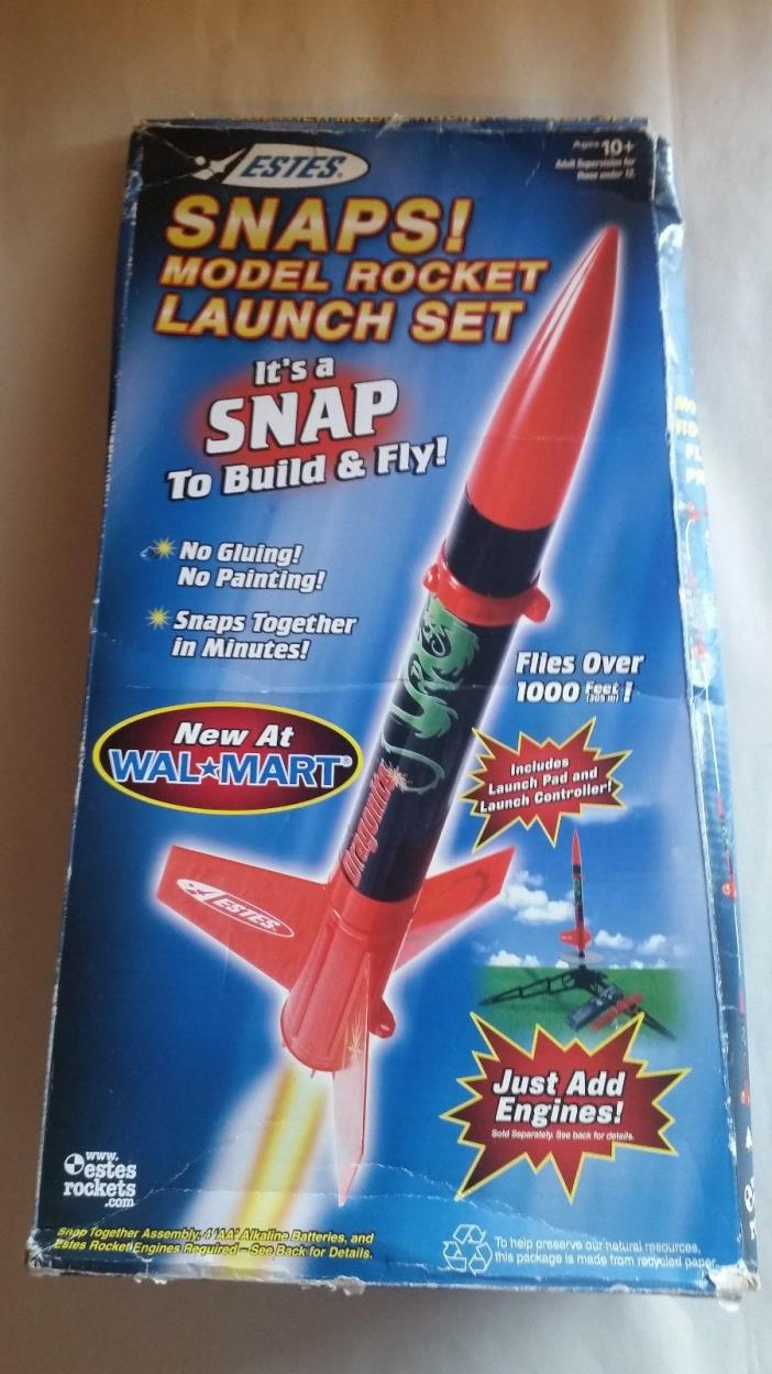 2007 Estes DRAGONITE Snaps! Model Rocket Launch Set  #1416 Flies over 1000 foot!