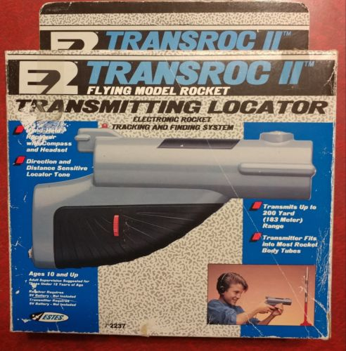 Estes Transroc II Transmitting Rocket Locator #2237 new old stock shopworn box