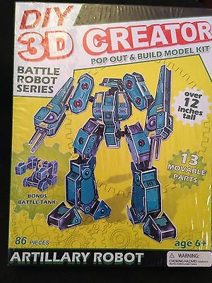 DIY 3D Creator Battle Robot Series Model - 86 Pcs - 12