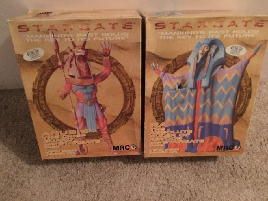 1994 MRC STARGATE set: includes Anubis and RA The Absolute Ruler