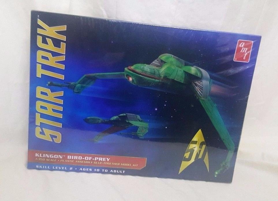 Star Trek Klingon Bird of Prey Model Plastic kit glue together 1:350 scale NIB