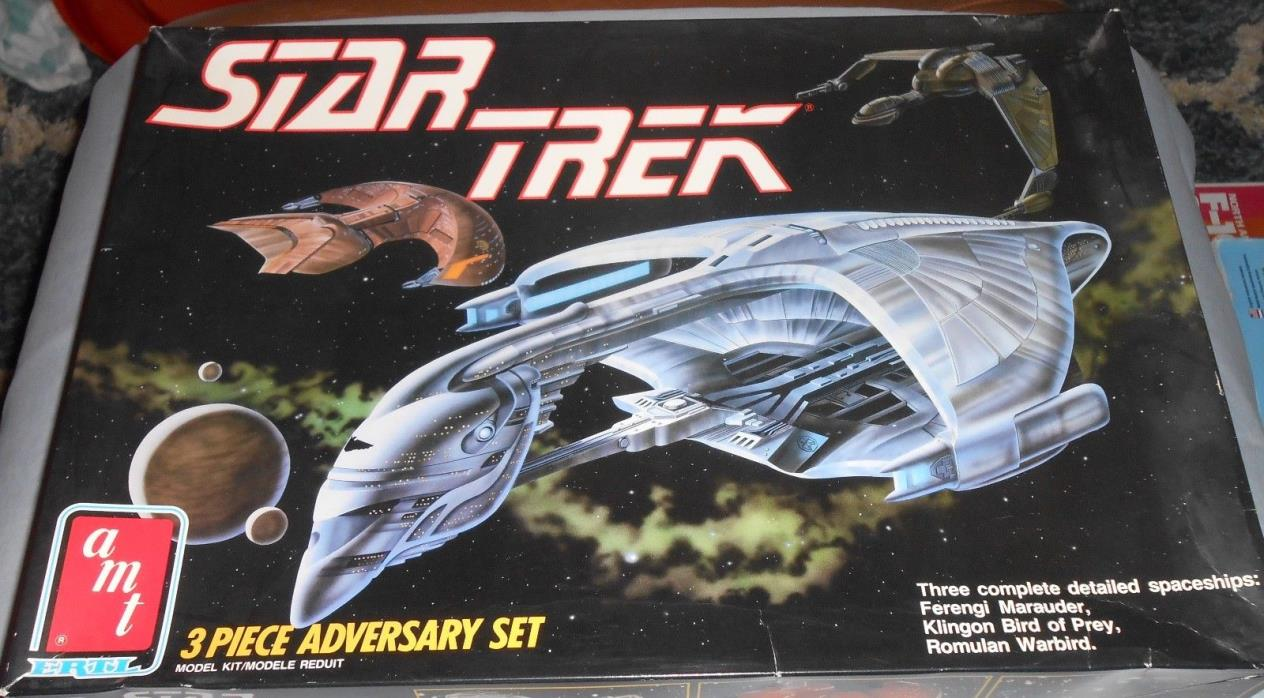 AMT Star Trek 3 Piece Adversary Set Open 'Sullys Hobbies'