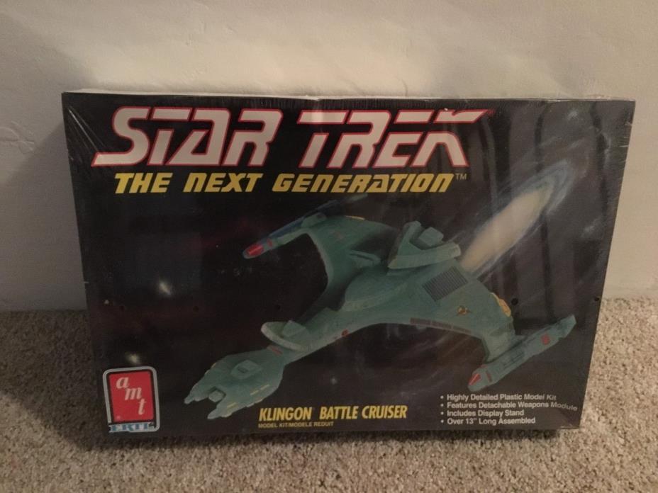 star trek the next generation klingon battle cruiser plastic model kit amt