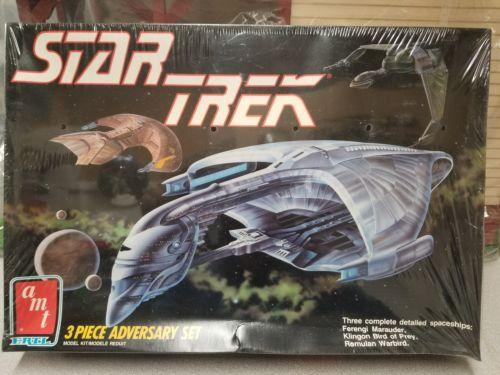 AMT Star Trek 3 PIECE ADVERSARY SET FACTORY? SEALED  model