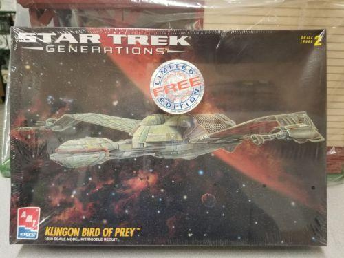 AMT Star Trek Generations KLINGON BIRD OF PREY FACTORY? SEALED 1:650 model