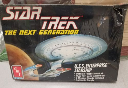 AMT Star Trek The Next Generation USS Enterprise NCC-1701-D 1/1400 Scale Sealed