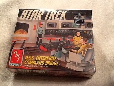 U.S.S. ENTERPRISE COMMAND BRIDGE AMT ERTL 6007 1991 NEW IN BOX FACTORY SEALED