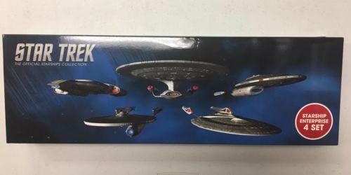 Star Trek Official Starships Collection : starship enterprise set of 4
