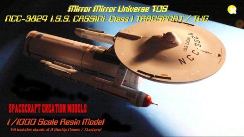 Star Trek  USS Ptolemy NCC 3801 Transport Tug Resin model 1:1000 Scale Rare!