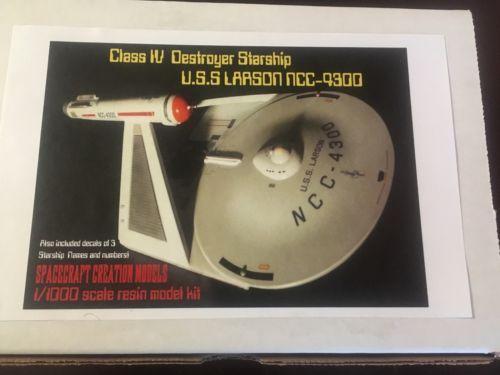 Star Trek  USS LARSON Class IV  destroyer resin model kit  1:1000 Scale