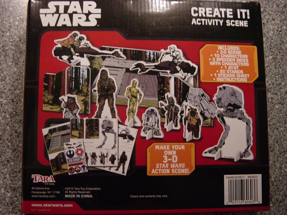 Star Wars Create It! 3-D Activity Action Scene Set - Brand New