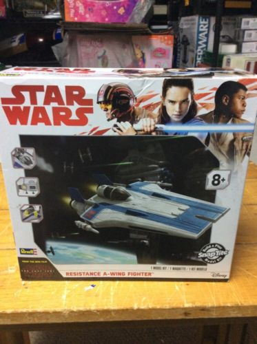Star Wars The Last Jedi Resistance A-Wing Fighter Model Revell Snap Tite NIP