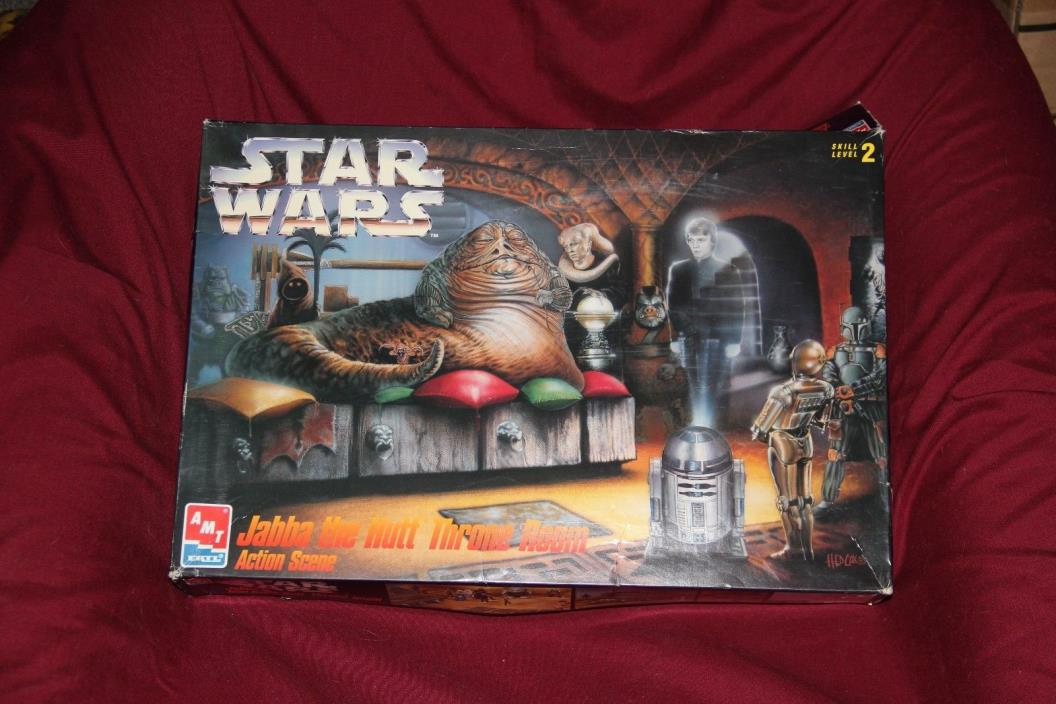 Star Wars AMT Jabba The Hut Throne Room Scene model!