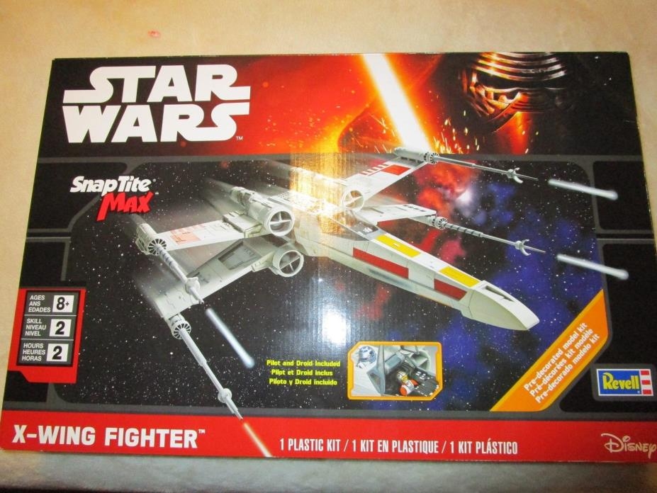 Disney Revell 1/30 Star Wars X-Wing Fighter Snaptite Max Model Kit 1894 NEW