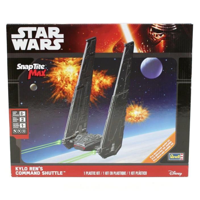 NEW Revell Star Wars Kylo Ren's Command Shuttle Snap Tite MAX  Model Kit 1826