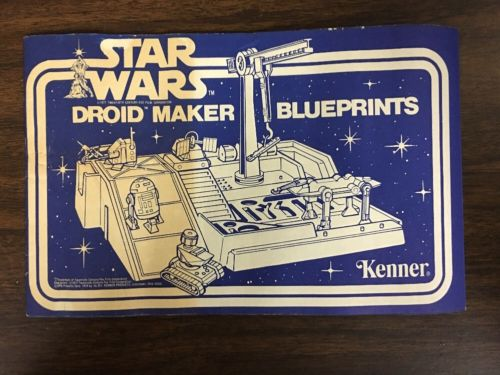 Vintage Original Star Wars Droid Maker Factory Blueprints Instruction Manual