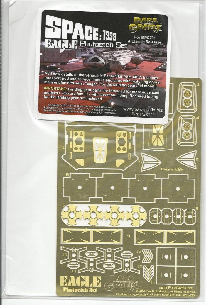 Para Grafix Space:  1999 Eagle Photoetch Set PGX 177 For MPC Releases ST