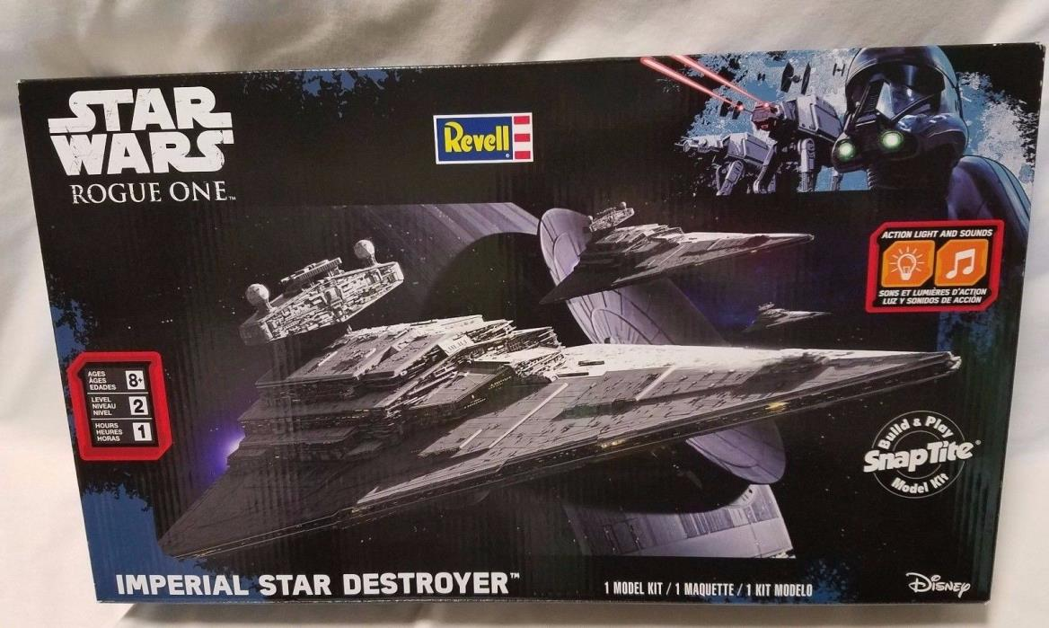 Revell Star Wars Rogue One Imperial Star Destroyer Model Kit With Sound & Light