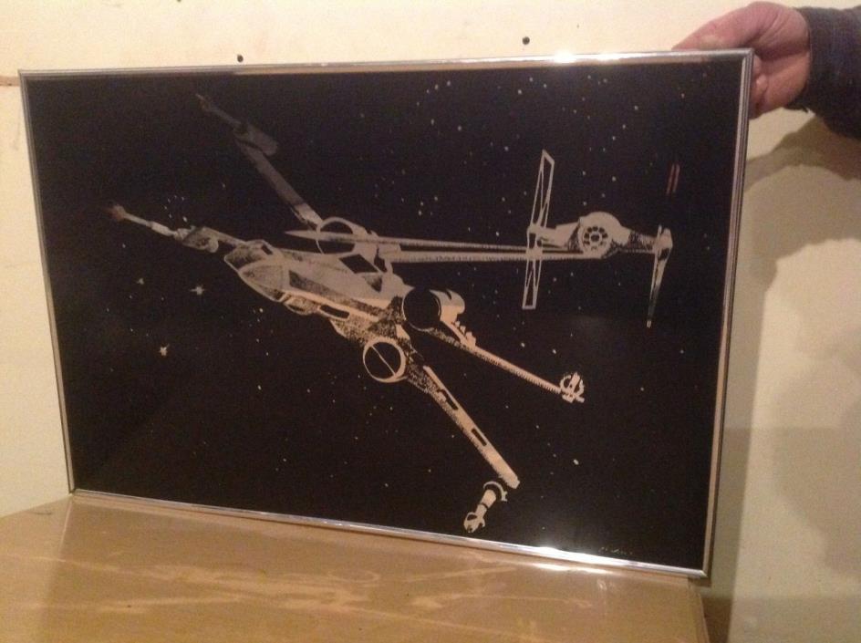 VTG Star Wars 1977 X-Wing Star Fighter SpaceShip Lightline Mirror Luke Skywalker
