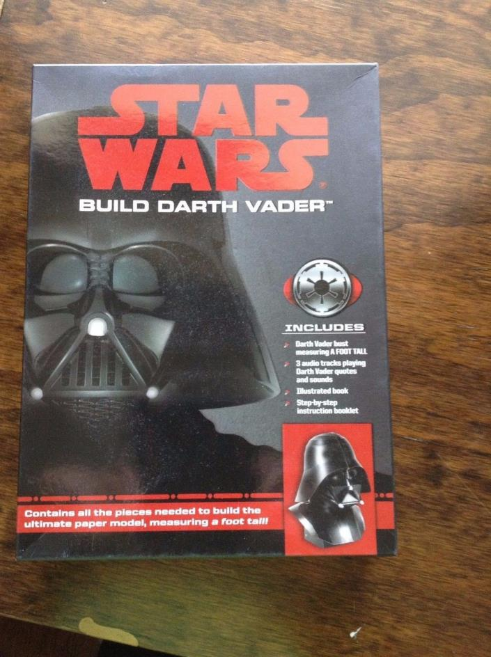 Star Wars Build Darth Vader Paper Craft Model Kit with Authentic Sound Embedded