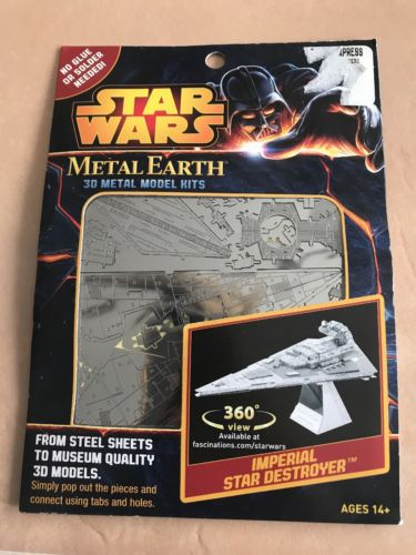 Disney Star Wars Authentic Imperial Star Destroyer Metal Earth 3D Model Kit New