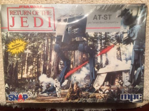 STAR WARS MODEL KIT IMPERIAL ALL TERRAIN SCOUT TRANSPORT AT-ST MPC 1984 SEALED