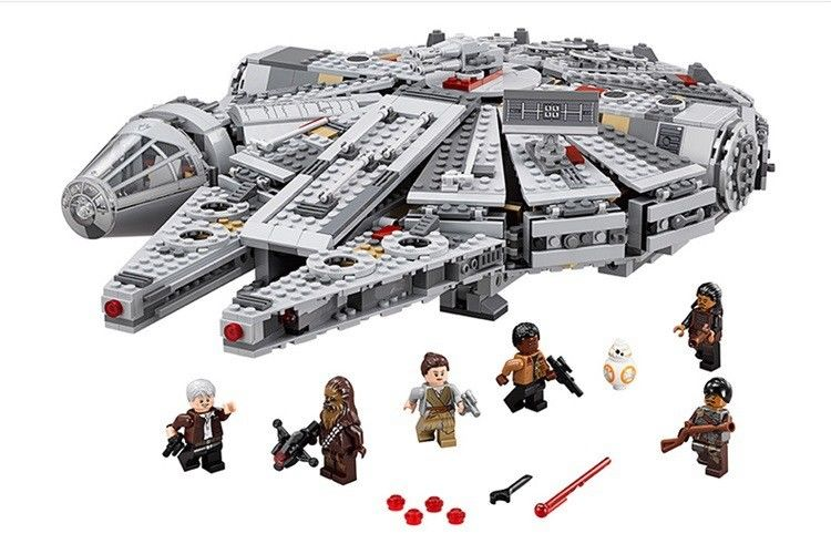 Star Wars Model LEGOS 1381pcs Millennium Falcon for The Force Awakens