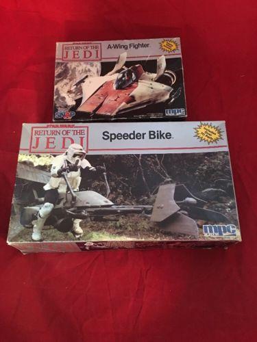 MPC MODEL-KIT #8928 STAR WARS RETURN OF THE JEDI SPEEDER BIKE/a Wing Fighter