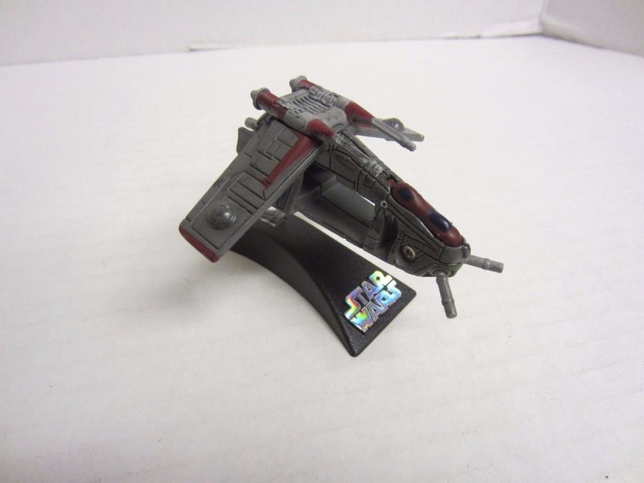 Republic Gunship Gray Red Titanium Series Die Cast Star Wars
