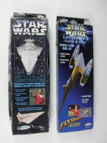 Star Wars Model Kits Catapult Flying Model Star Destroyer Narboo Fighter NIB