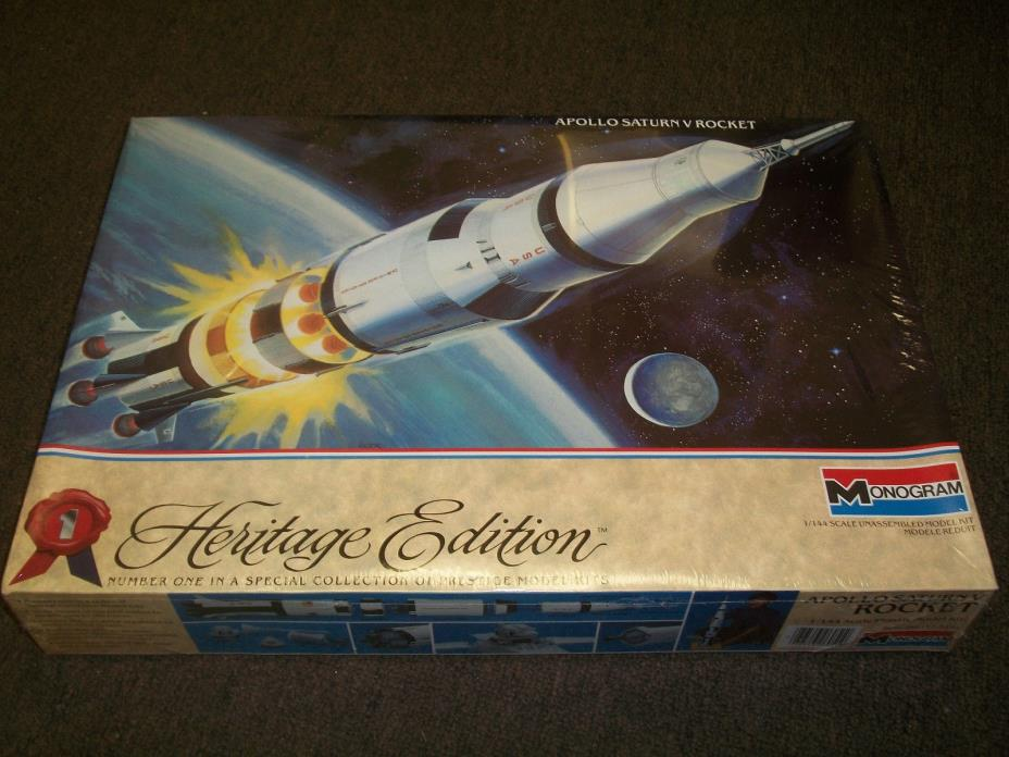 Monogram 1/144 Scale Apollo Saturn V Rocket - Factory Sealed