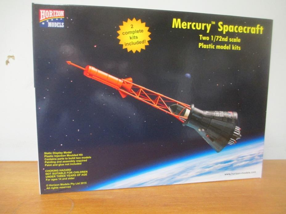 Horizon Models # 2003 1/72 Mercury Spacecrafts Model Kits
