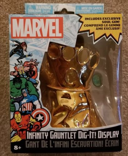 Infinity Gauntlet Marvel Dig-It! Display- Exclusive Soul Gem Thanos - Brand New