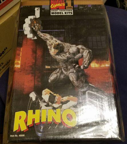 1996 Toy Biz Model Kit Rhino Marvel Comics Snap Together Level 1 NIB Sealed