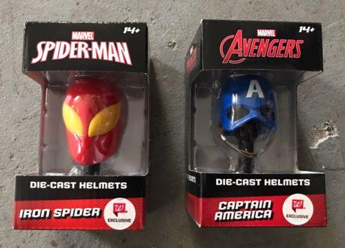 Marvel Captain America Iron Spider Man Diecast Helmet Avengers Infinity War