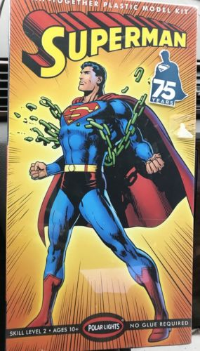 Polar Lights Superman Snap Model Kit 18 Scale Factory Sealed!