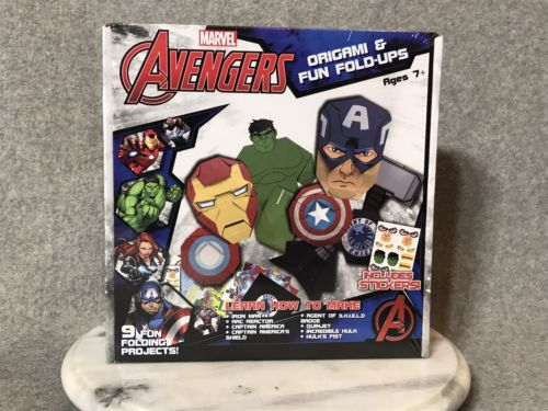 MARVEL AVENGERS origami & fun fold-ups-9 FUN Projects Includes Stickers Ages 7+