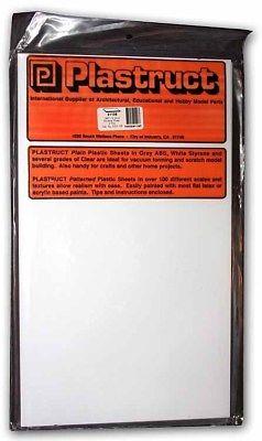.080 WHITE STYRENE SHEET PLASTIC - Plastruct 2-Sheet Pack #91106