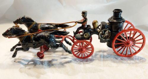 Vintage Wilkins Cast Iron #150 Fire Steamer Pumper Wagon