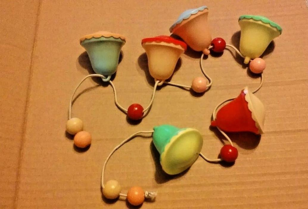 Vintage Celluloid Baby Rattle Toy Bells